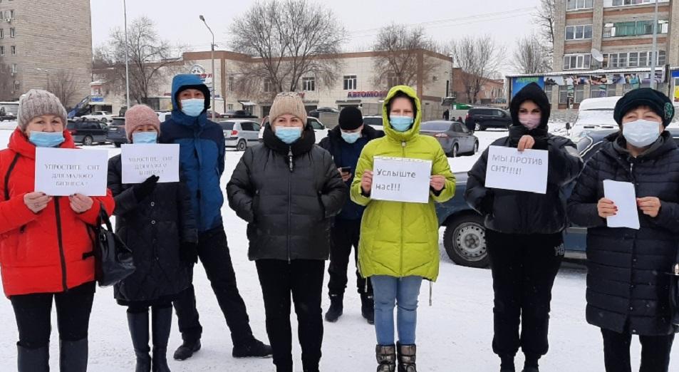 Владельцы маленьких продуктовых магазинов в Усть-Каменогорске вышли на флешмоб
