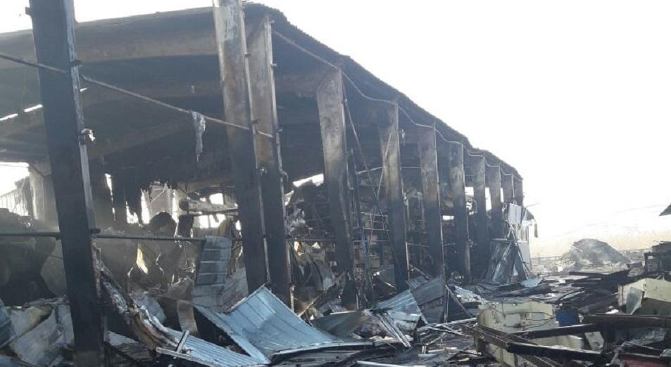 В Усть-Каменогорске сгорел единственный в РК завод по производству OSB-плит