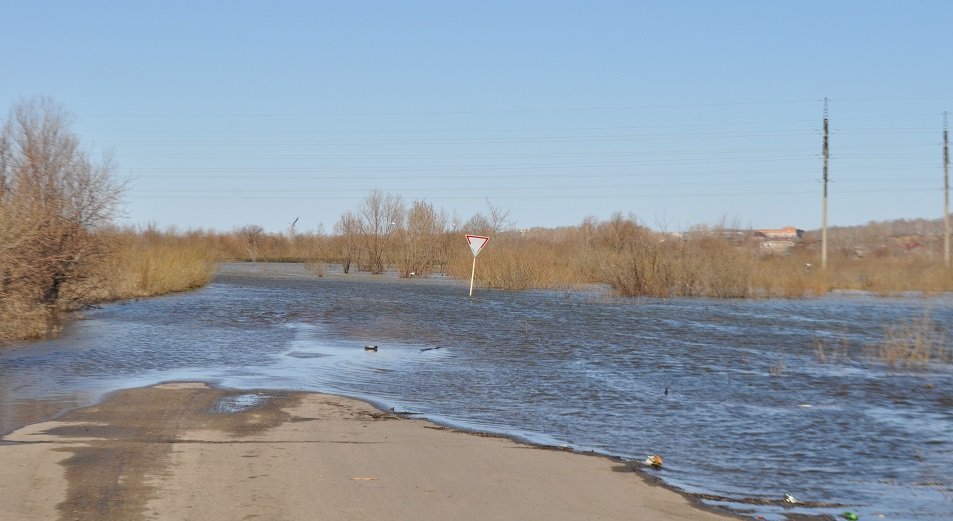 Уровень воды в Есиле поднялся на 9 метров