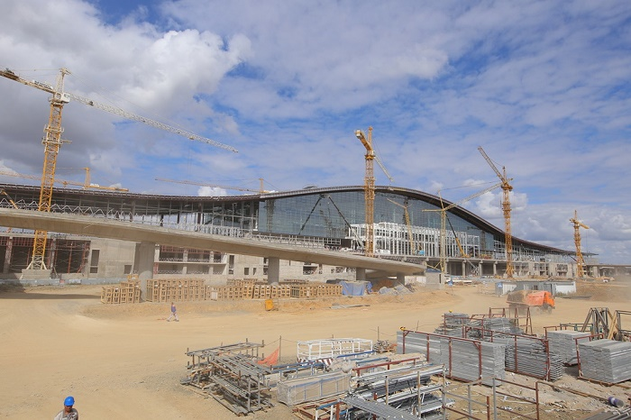 Новый жд вокзал в Астане строят круглосуточно