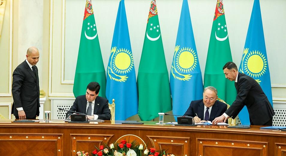 Стратегическая дружба , Казахстан,Туркменистан,соглашение,Гурбангулы Бердымухамедов,Астана,Президент РК,Назарбаев