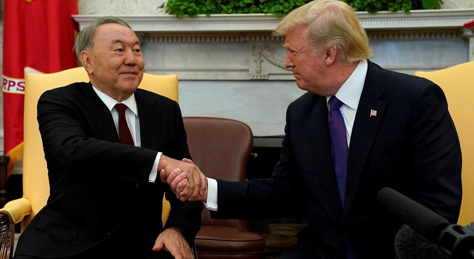 О безопасности, процветании мира и немного о личном, Переговоры, Нурсултан Назарбаев, Дональд Трамп, США