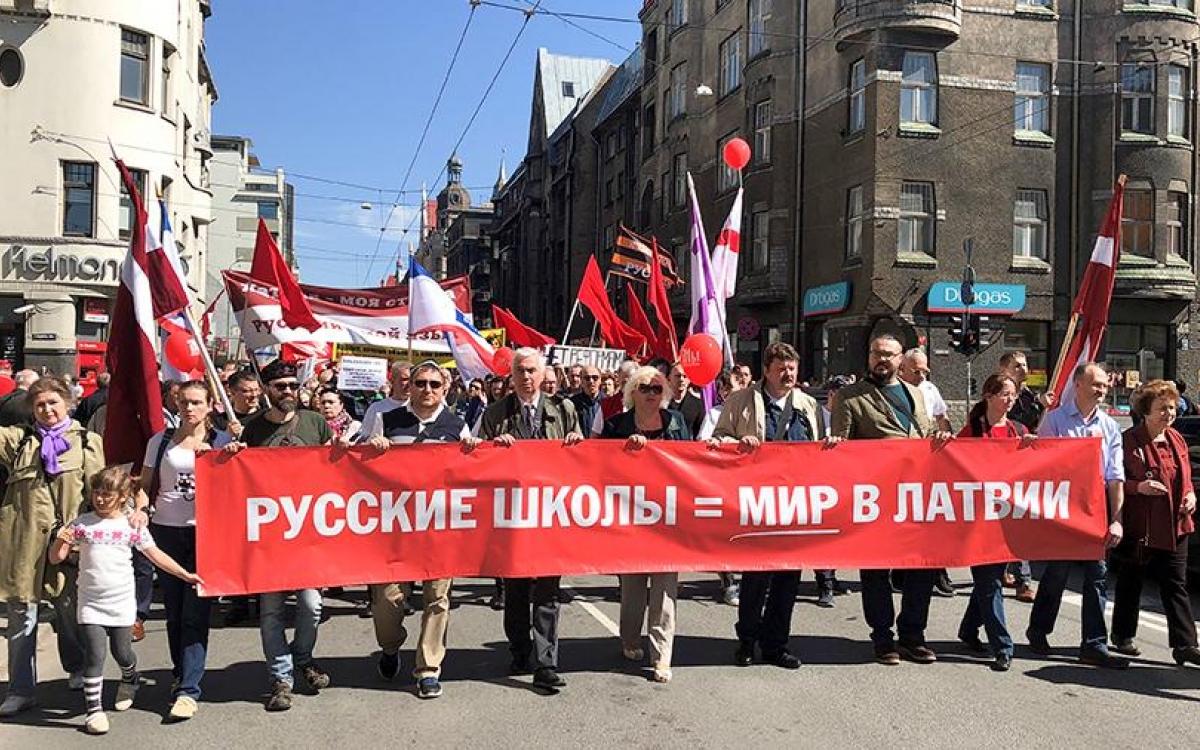 В Латвии прошло шествие в защиту русских школ, Латвия, Шествие, Русская школа