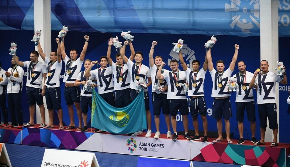 Су добынан ерлер арасында Азияда теңдесcізбіз, Азия ойындары, алтын медаль, ұлттық құрама, Қазақстан