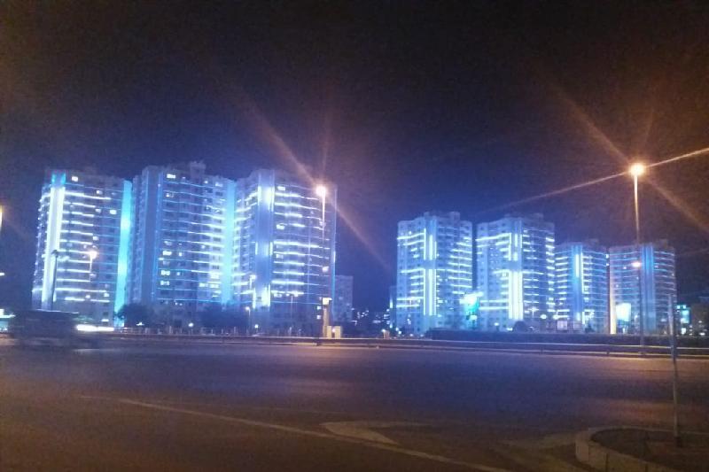 Светящаяся вывеска «GGG - ЧЕМПИОН!» появилась в центре Астаны, Вывеска, GGG - ЧЕМПИОН, Астана