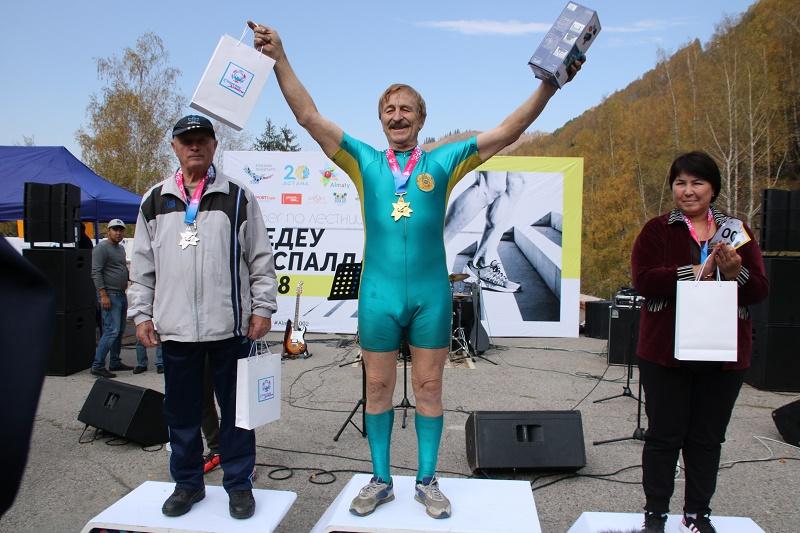 71-летний алматинец вновь стал победителем «Медеу баспалдақ», Алматы, Победитель, Медеу баспалдақ