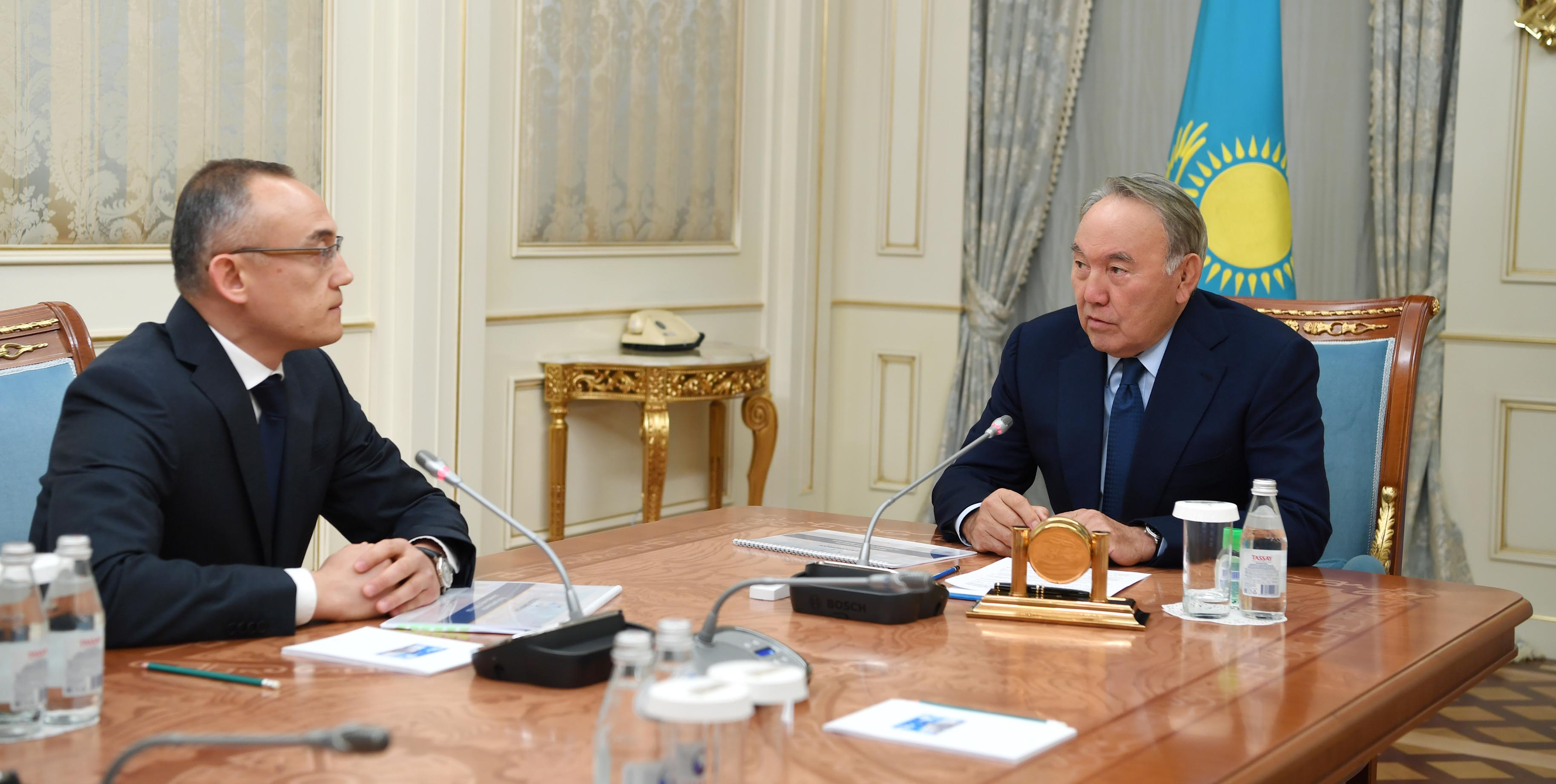 Нурсултан Назарбаев встретился с главой «Казатомпрома» , Президент РК, Нурсултан Назарбаев, Казатомпром