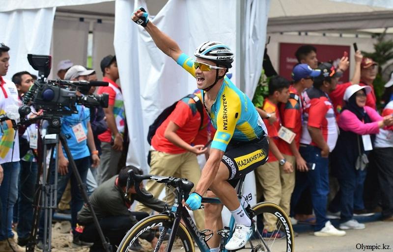 Ұзақ күттірген екінші алтын бесінші күні бұйырды, Азия ойындары, Джакарта, алтын медаль, Алексей Луценко, веложарыс