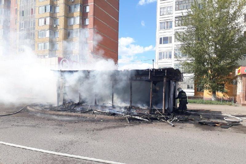 Донерная сгорела в Астане, Донерная, пожар, Астана
