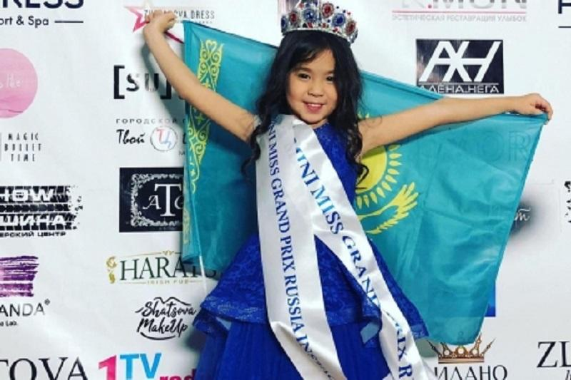 Семилетняя карагандинка победила на конкурсе красоты Mini miss grand prix Russia 2018