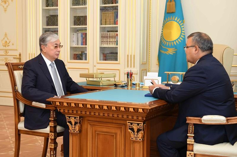 Касым-Жомарт Токаев принял Аскара Бейсенбаева - посла Казахстана в Беларуси