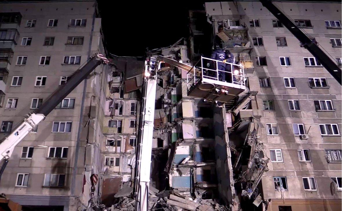 Число погибших при обрушении части дома в Магнитогорске возросло до 11