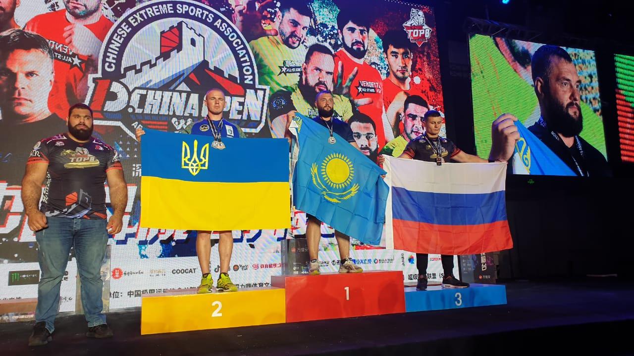 Илья Ильин стал чемпионом Международного турнира по армрестлингу в Китае