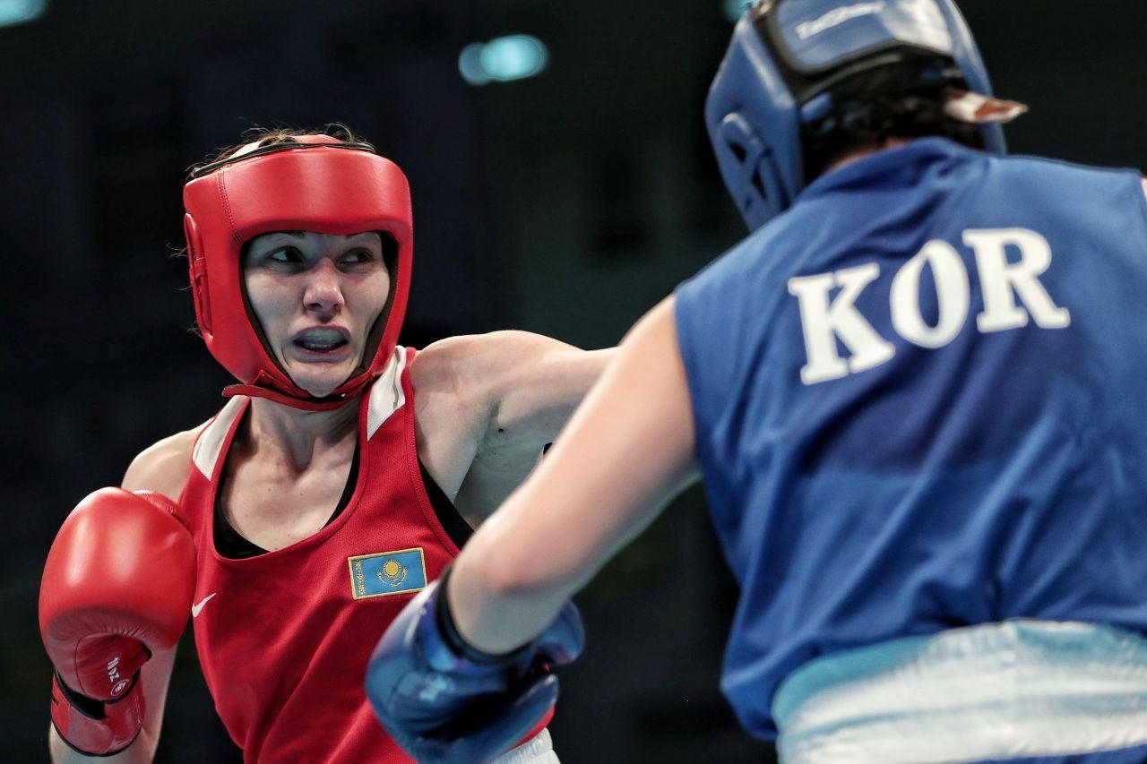 Валентина Хальзова и Надежда Рябец одержали победу в рамках олимпийского отбора по боксу в Аммане