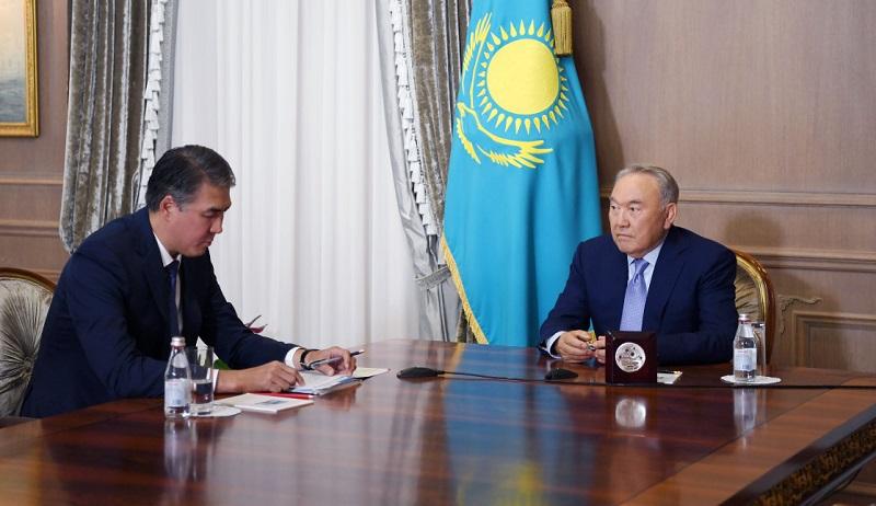 Асет Исекешев представил Нурсултану Назарбаеву новые инициативы