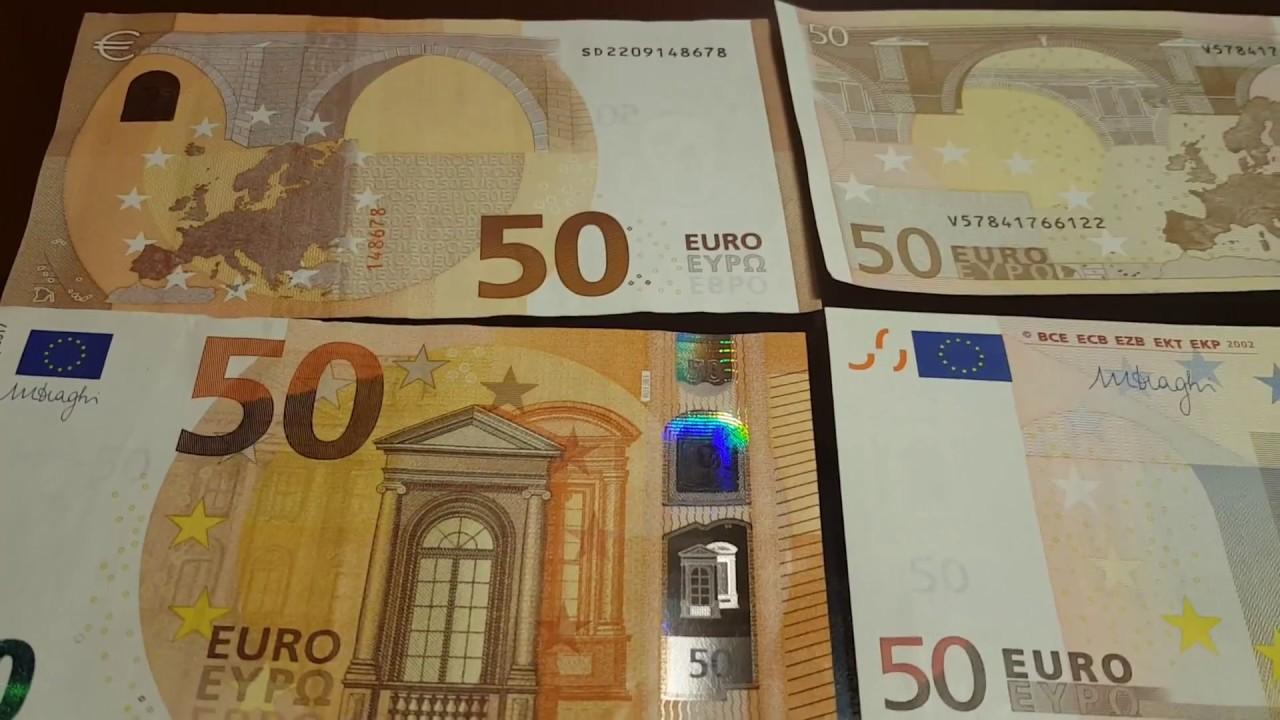 Банкноты 20 и 50 евро остаются самыми привлекательными для фальшивомонетчиков