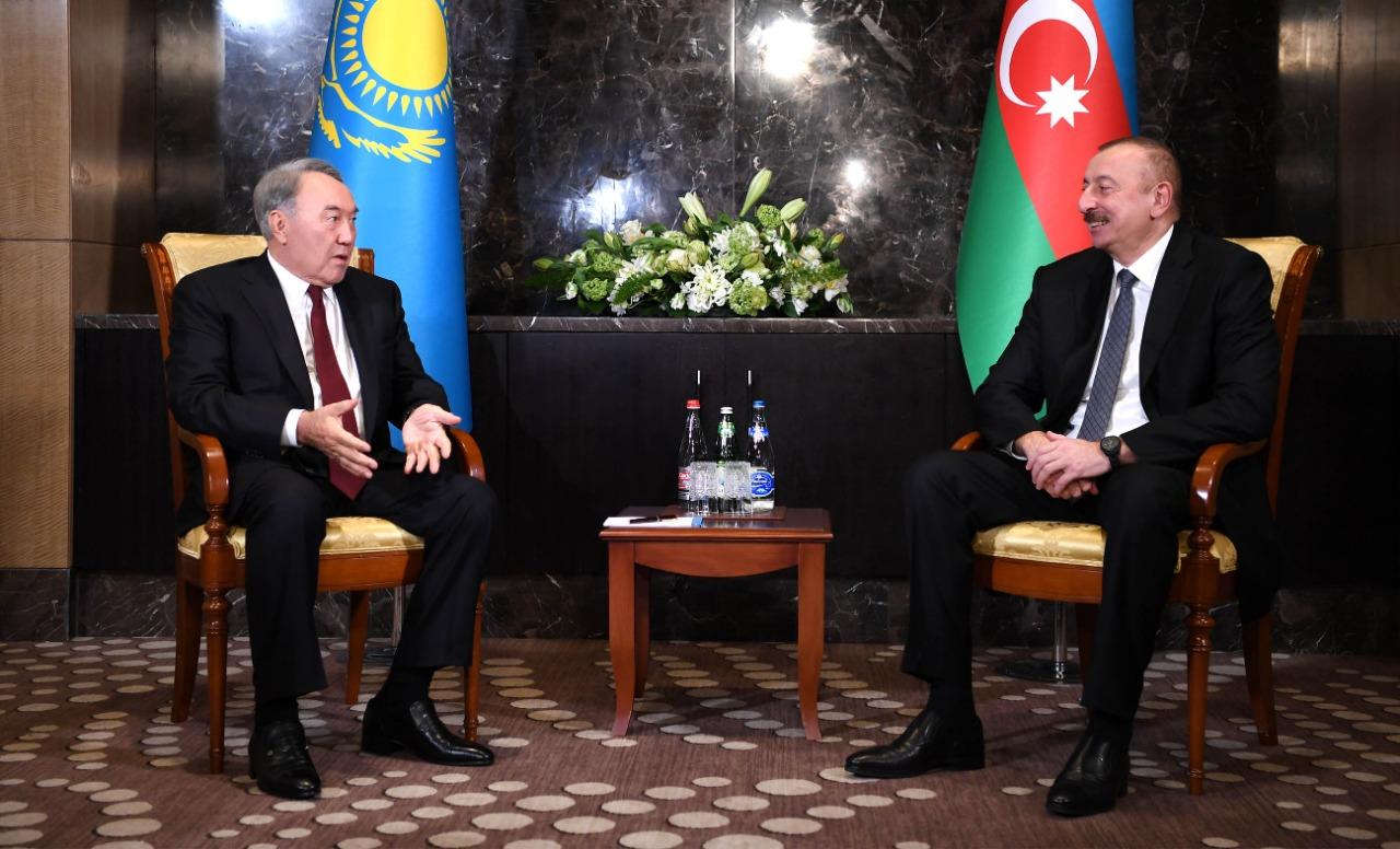 Нурсултан Назарбаев указал на положительную динамику развития казахстанско-азербайджанских отношений