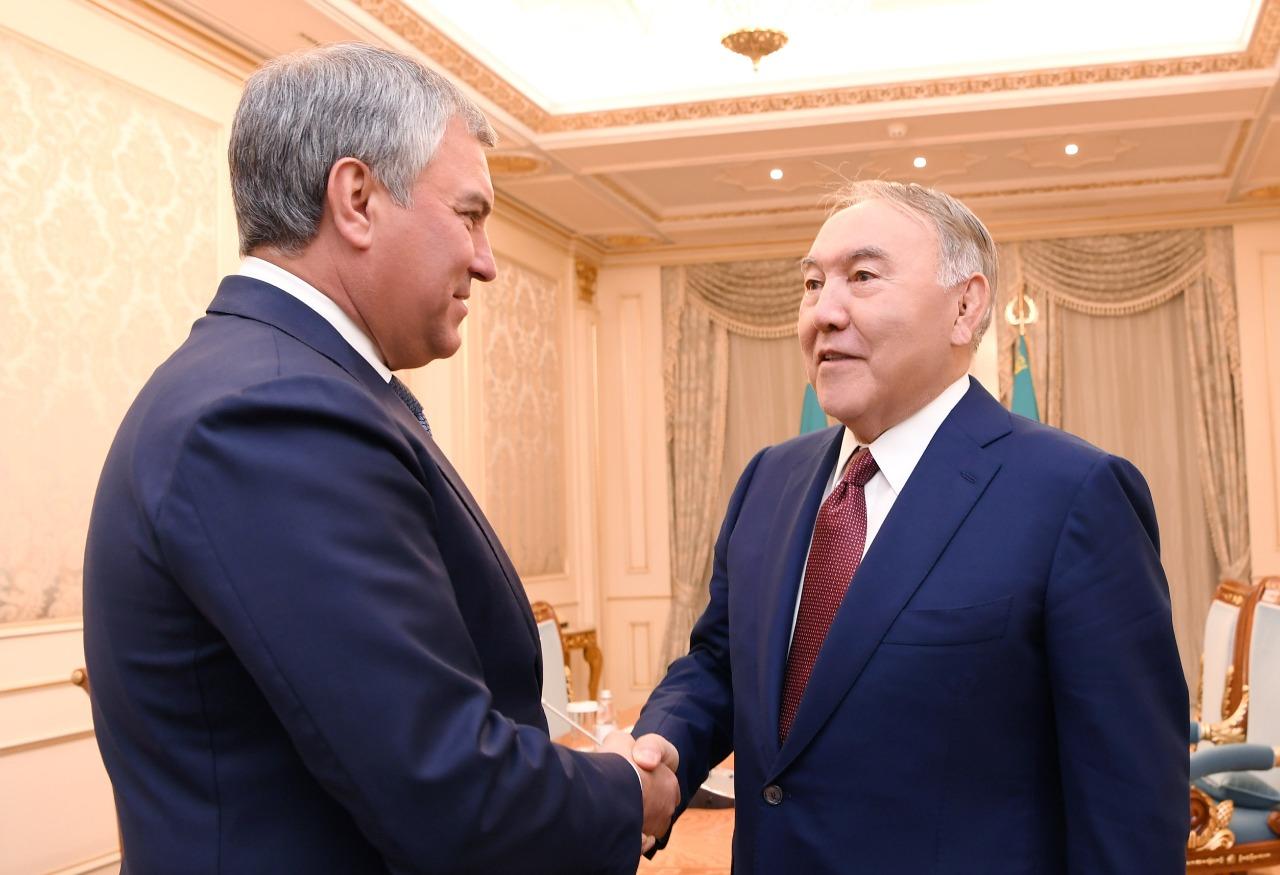 Елбасы Вячеслав Володинмен келіссөз өткізді