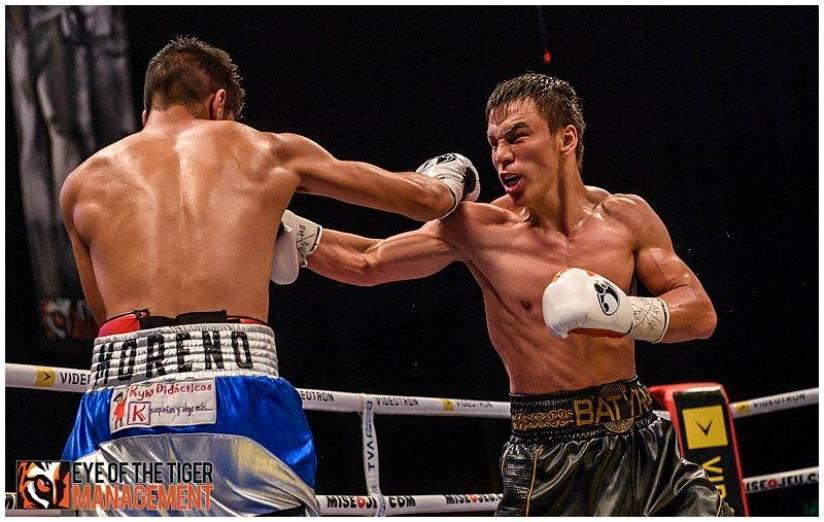 Батыр Жүкембаев Мексика боксшысын сұлатты, бокс, Батыр Жүкембаев, Морено