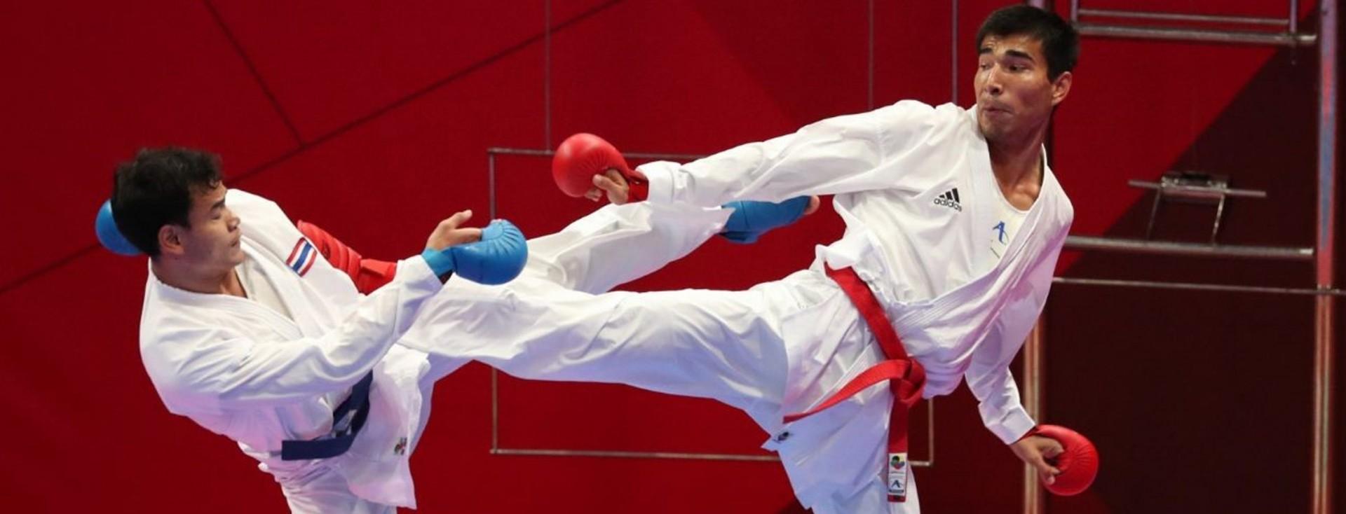 Казахстанский каратист выиграл серебро в Берлине , каратист , Спорт