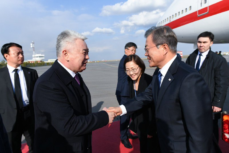 Президент Республики Корея прибыл в Казахстан