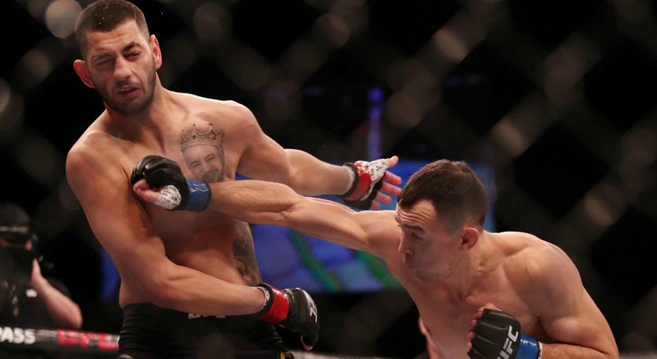 Октагонда ойнақ салды бір қазақ   , Дамир Исмагулов, UFC, сегізбұрыш, алғашқы қазақ