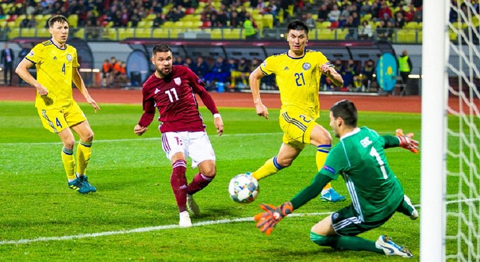 Қазақстан құрамасы Ригада Латвиямен тең түсті, футбол, ұлттық құрама, Ұлттар лигасы, Қазақстан