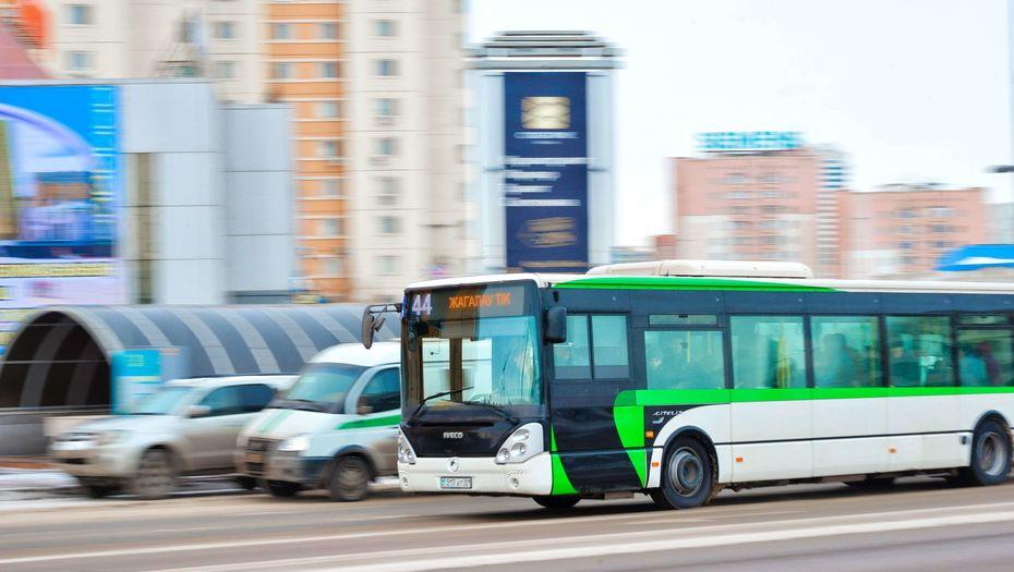 В Астане ограничили движение автобусов из-за непогоды