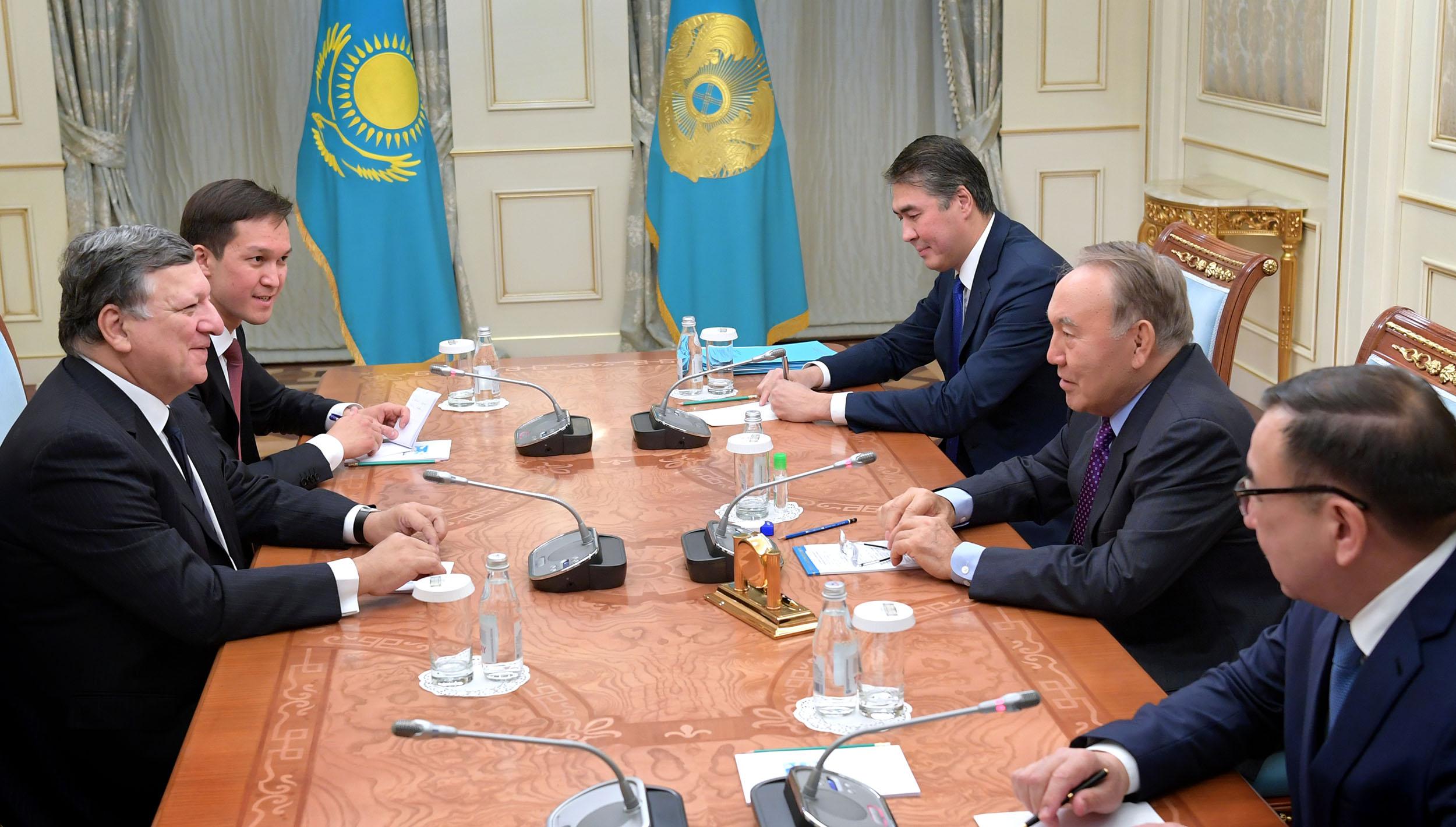 Нурсултан Назарбаев встретился с экс-председателем Еврокомиссии Жозе Мануэлем Баррозу