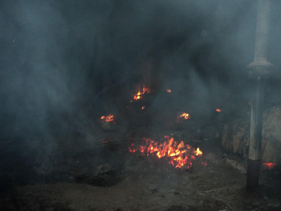 Теміртауда газ құбырынан өрт шықты, Теміртау, газ құбыры, өрт