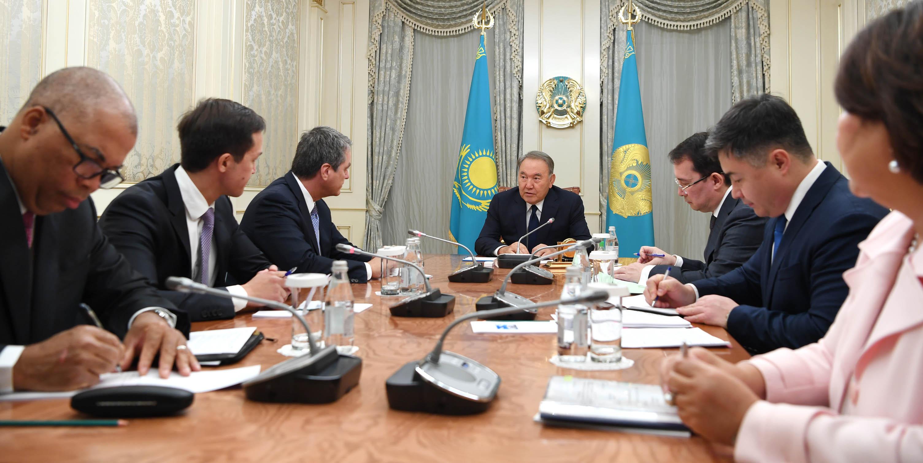 Президент РК обсудил с главой ВТО подготовку к проведению министерской конференции в Астане  , Президент РК, Глава ВТО, Астана