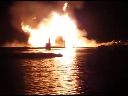 Потушили очаг возгорания на месторождении Каламкас