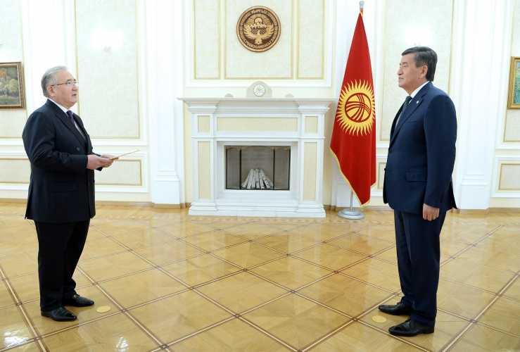 Қазақстан елшісі Қырғызстан Президентіне сенім грамоталарын тапсырды