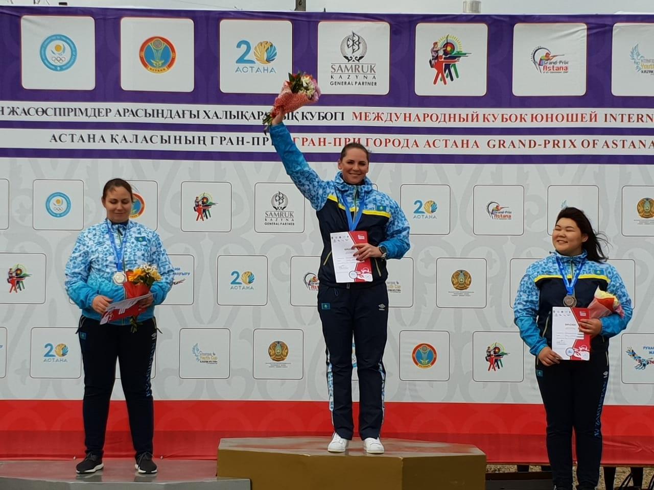 Казахстанка стала лучшей на Гран-при Астаны по стендовой стрельбе , Спорт, Стрельба