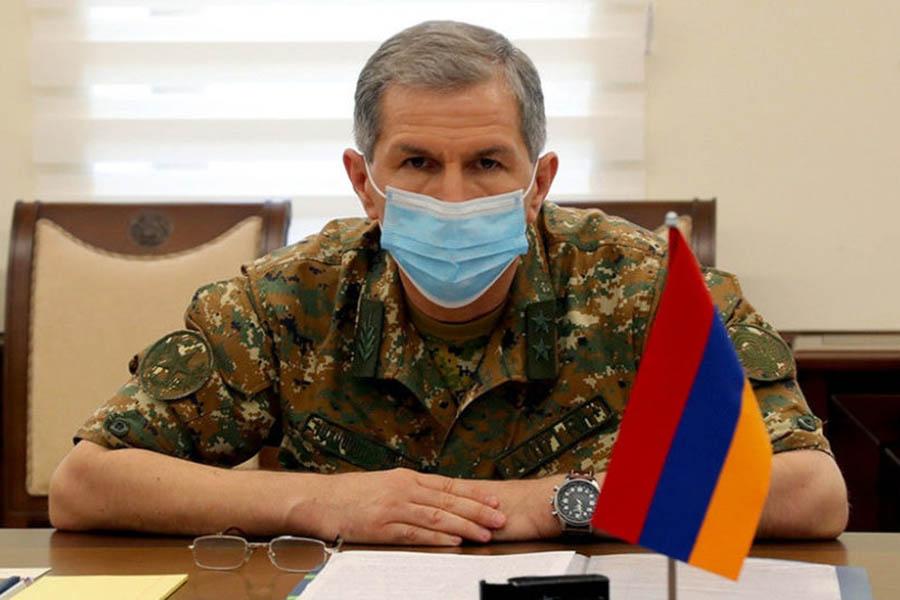 Освобожден от должности начальник Главного штаба ВС Армении