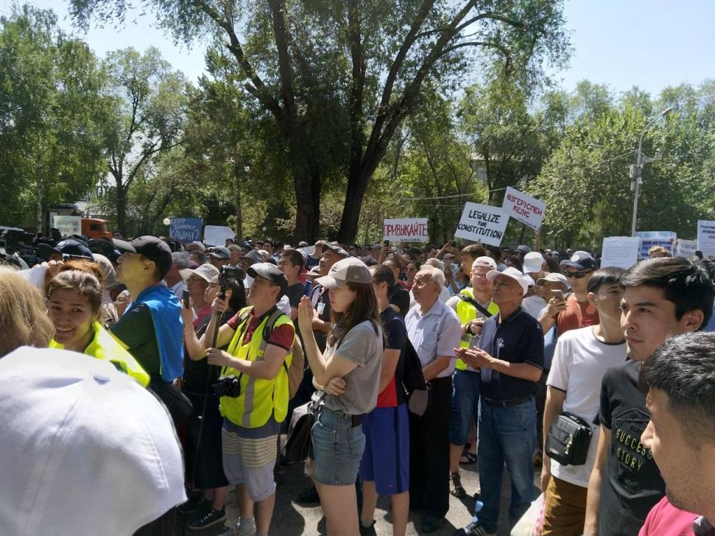 Участники митинга в Алматы приняли резолюцию и разошлись