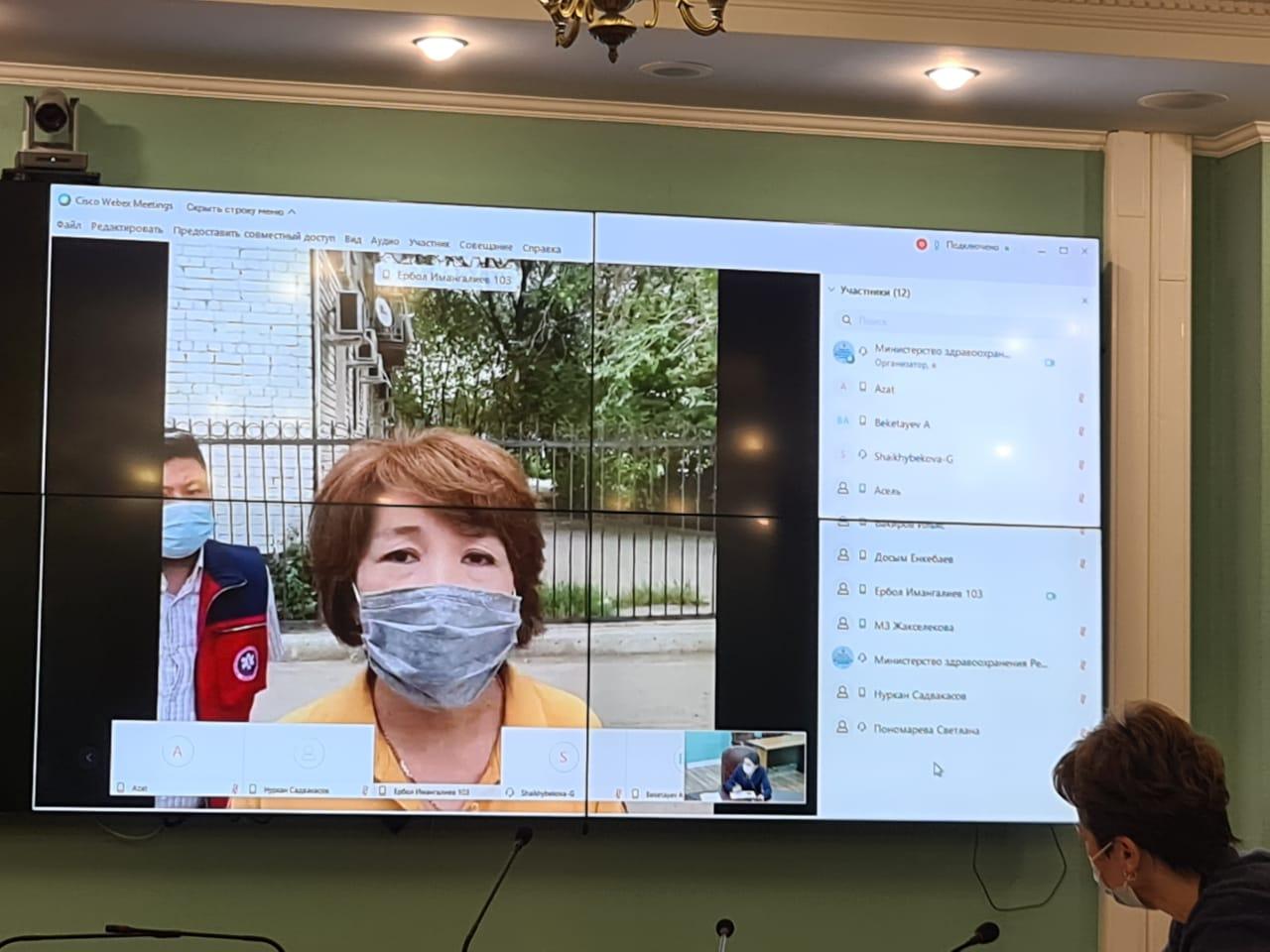 Глава минздрава провел онлайн-обход станции скорой помощи в  Атырауской области