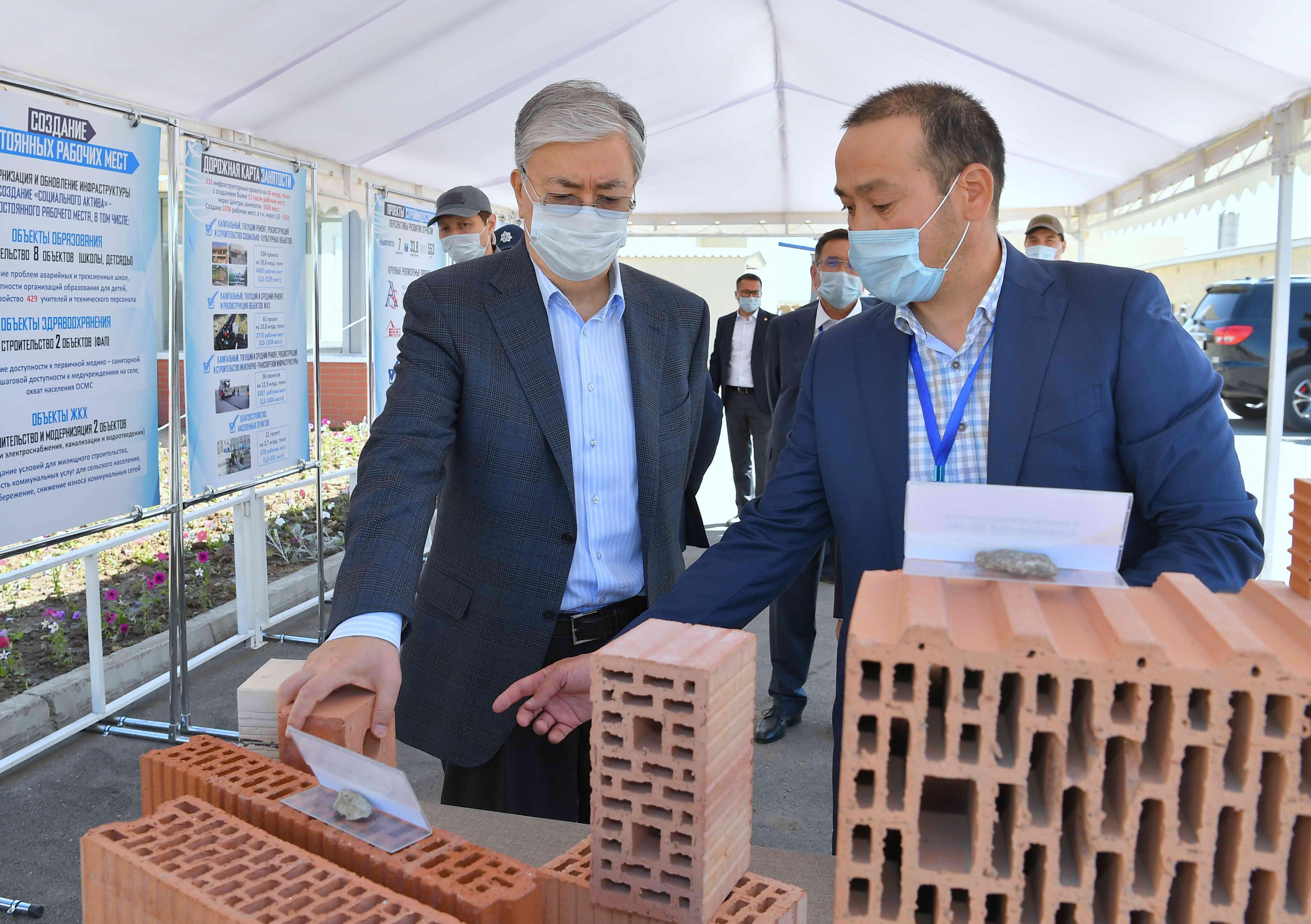 Қазақстан Президенті «Astana Ceramic» ЖШС-ға барды