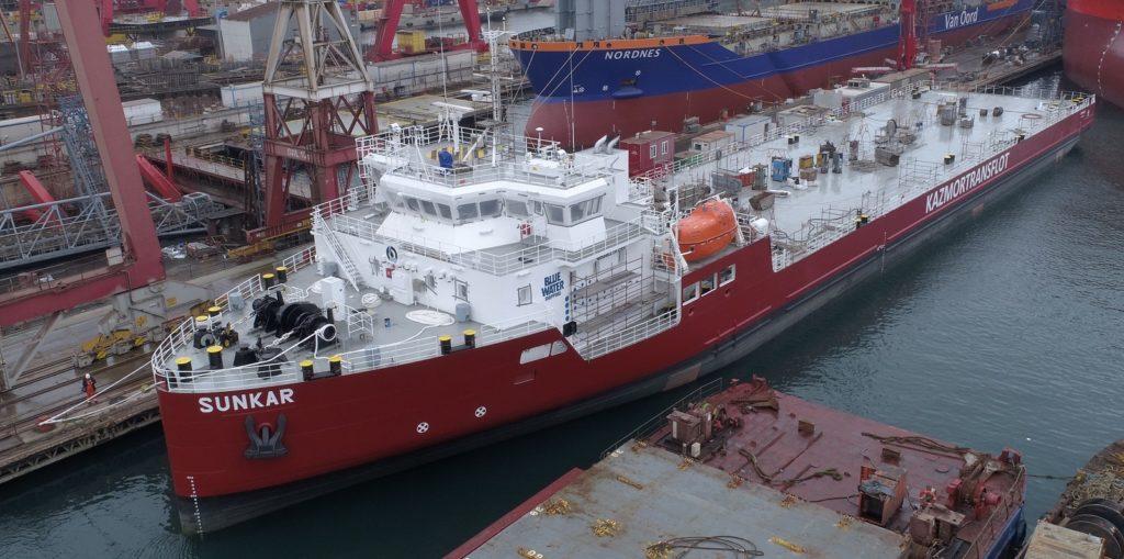Казахстанский морфлот пополнился судном, построенным по заказу НМСК «Казмортрансфлот», Морфлот, Судно, Казмортрансфлот