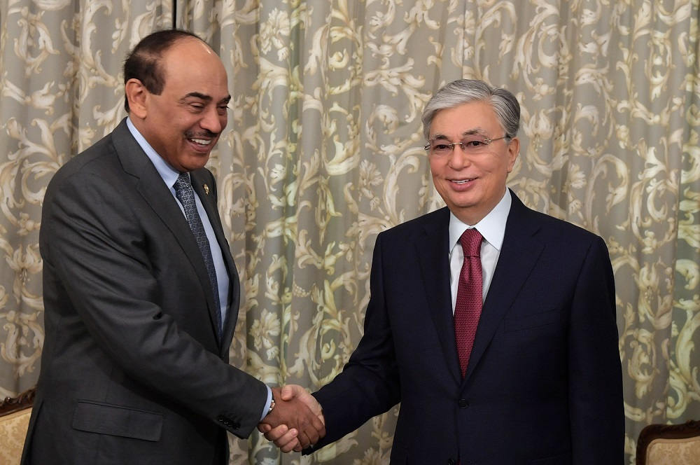 Қазақстан Президенті Кувейттің Премьер-Министрі шейх Сабах Халид әл-Хамад ас-Сабахпен кездесті