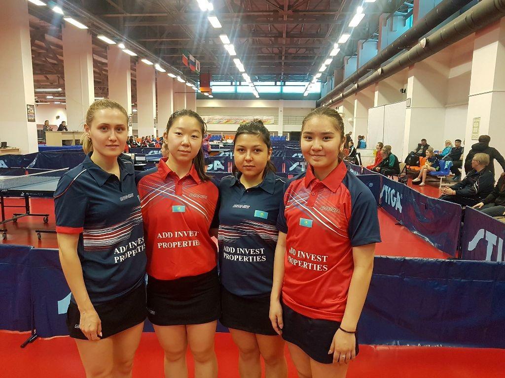 Казахстанки заняли пятое место на чемпионате Федерации настольного тенниса РФ