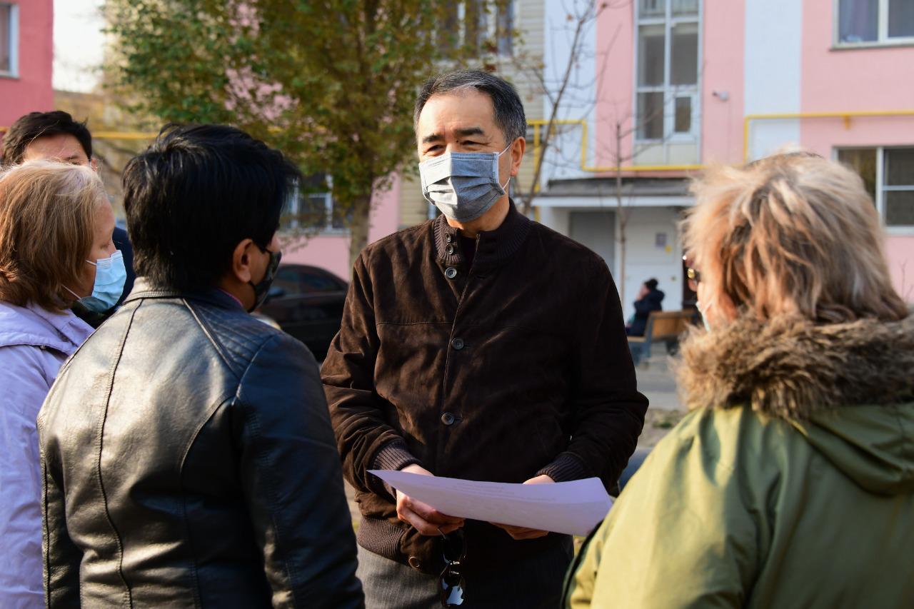 Сагинтаев лично контролирует ситуацию в микрорайоне Зердели