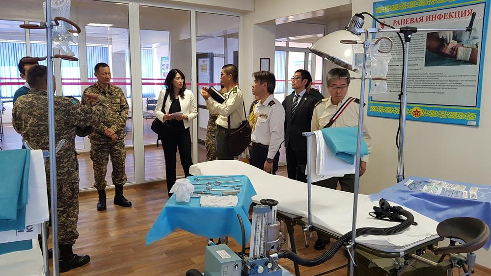 Представители военно-медицинских служб Казахстана и Японии обменялись опытом работы