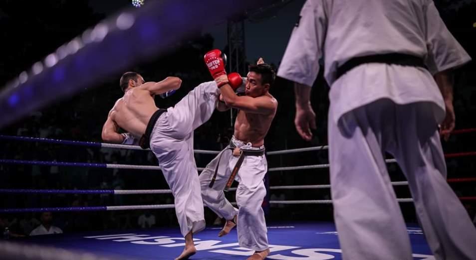 Казахстанские каратисты попробовали себя в профессиональных боях Кубка Senshi в Болгарии