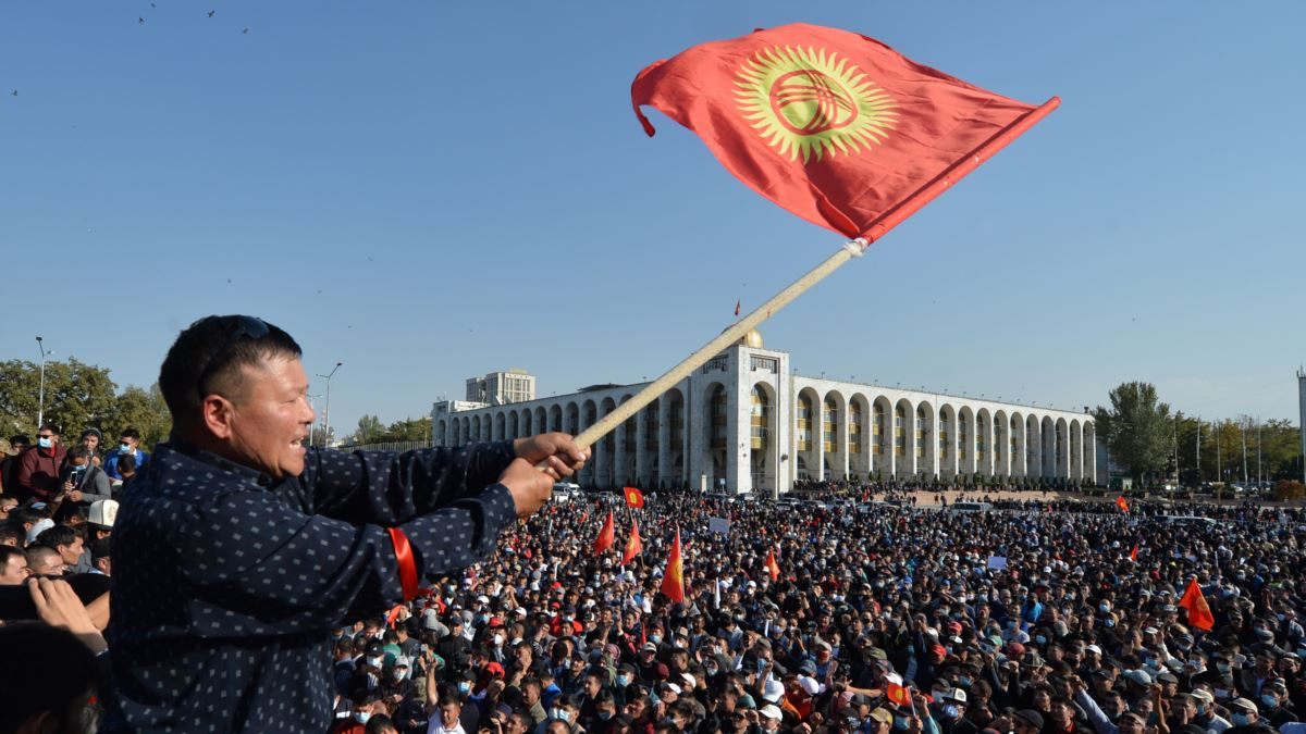 Акции протеста проходят в Бишкеке