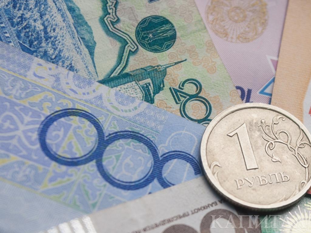 В Казахстане резко снизились продажи рубля , рубль, тенге , деньги