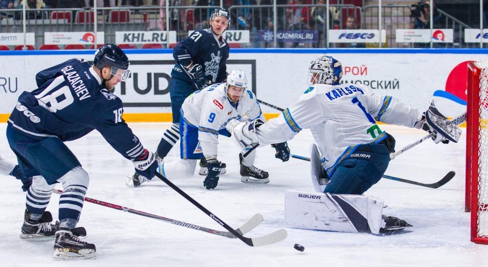 Регулярка КХЛ: «Барыс» выгрыз победу в матче с «Адмиралом»