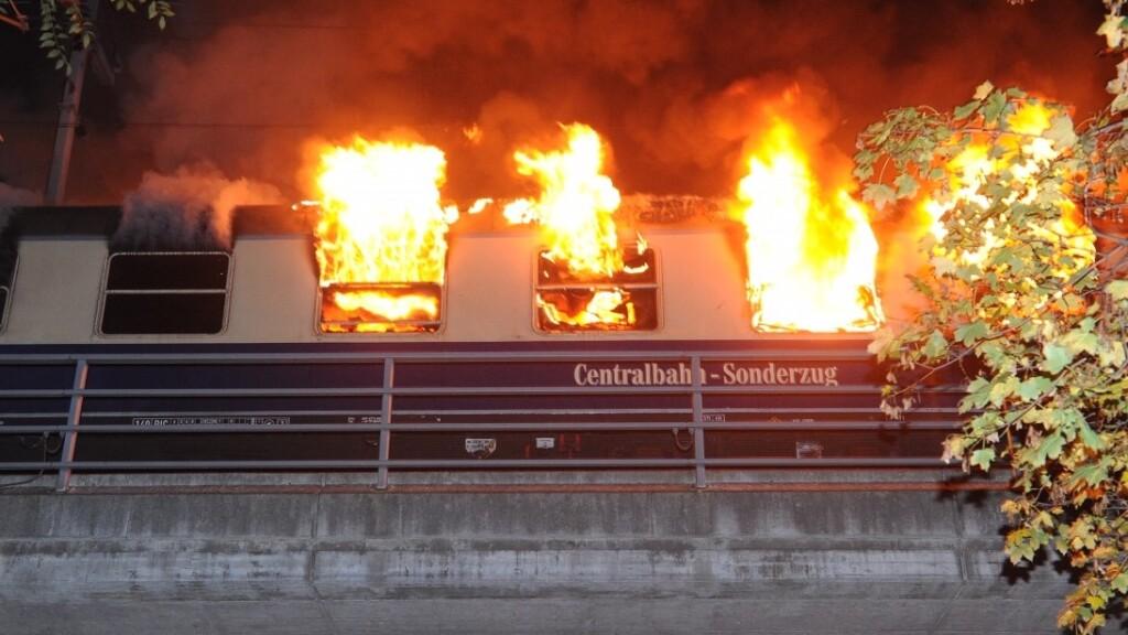 В одном из вагонов поезда в Берлине произошел пожар
