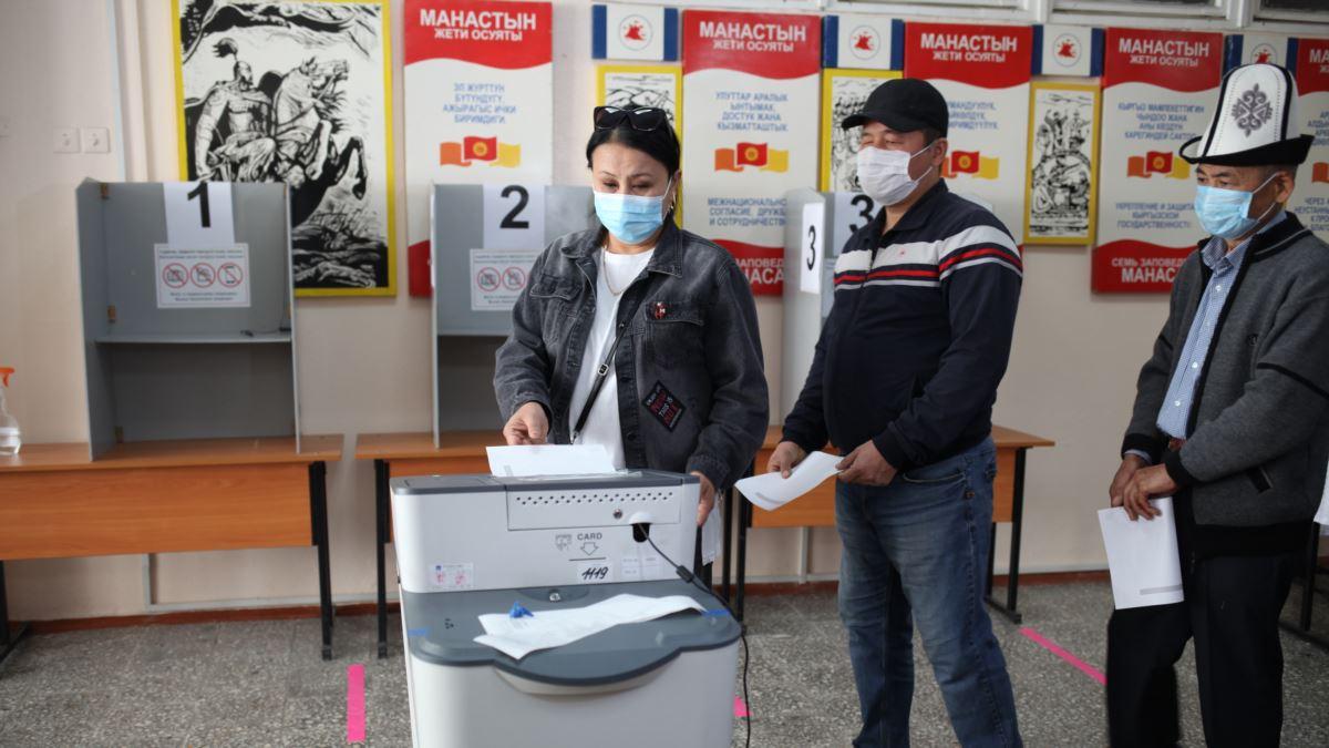 В парламент Кыргызстана по итогам выборов проходят четыре партии