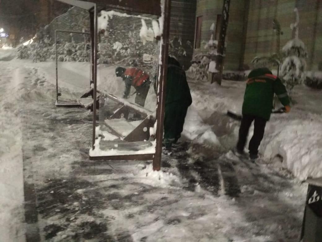 В Алматы за ночь выпало 15 см снега